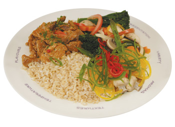 An image of a healthy curry meal to illustrate how to eat to lose weight healthily.
