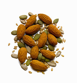 An image of almonds to illustrate a potential source of monounsaturated fats.